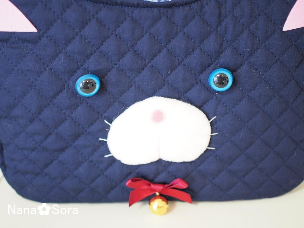 猫好き必見♪表情が可愛い一点物の猫バッグ。