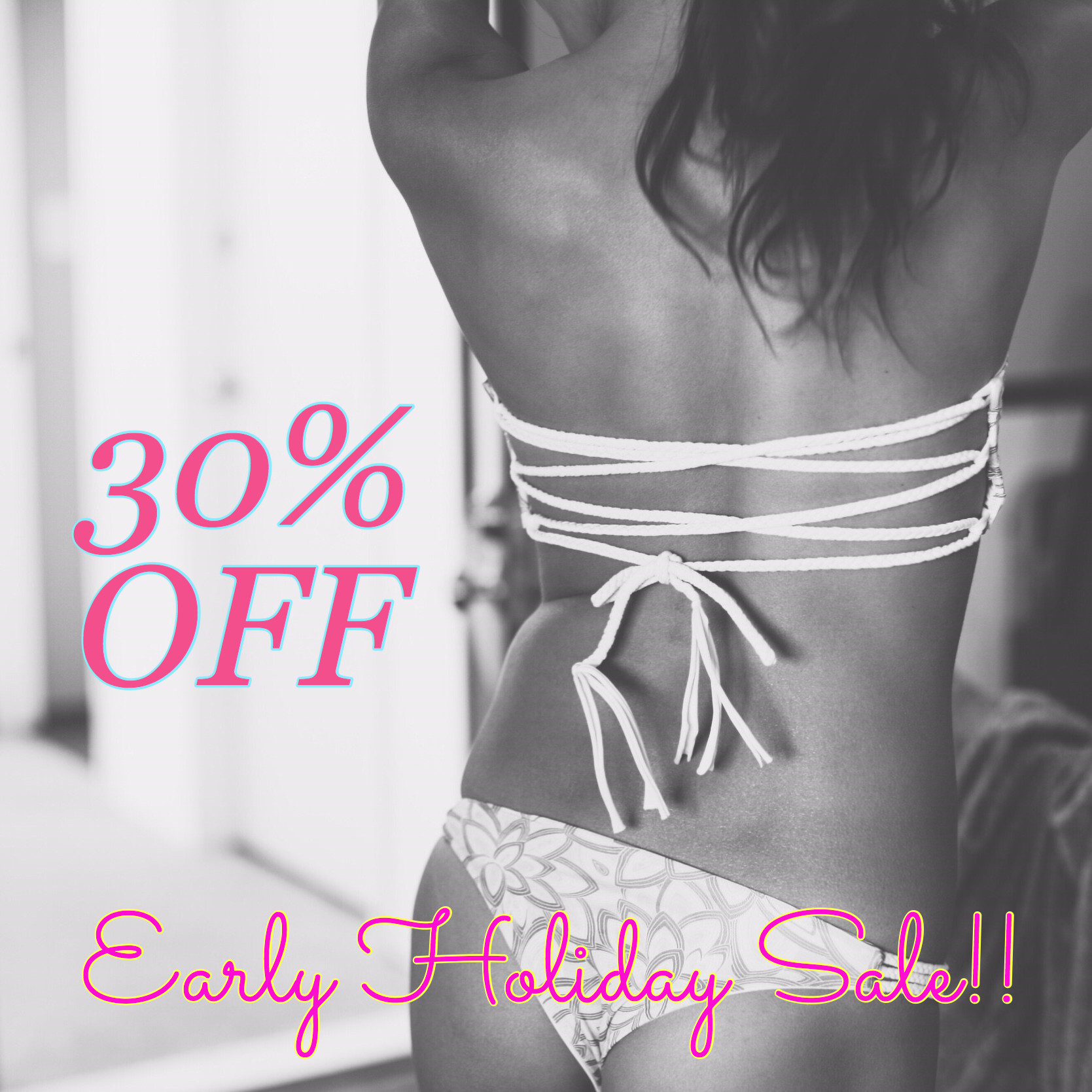 Early Holiday Sale!! GET 30% OFF!!