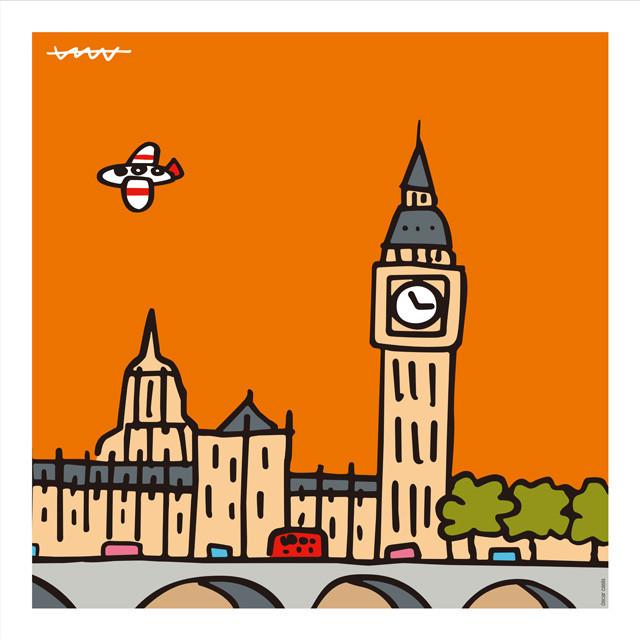 ロンドンのシンボルを一枚の絵に