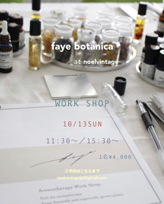 faye botanica at noel vintage Work shop