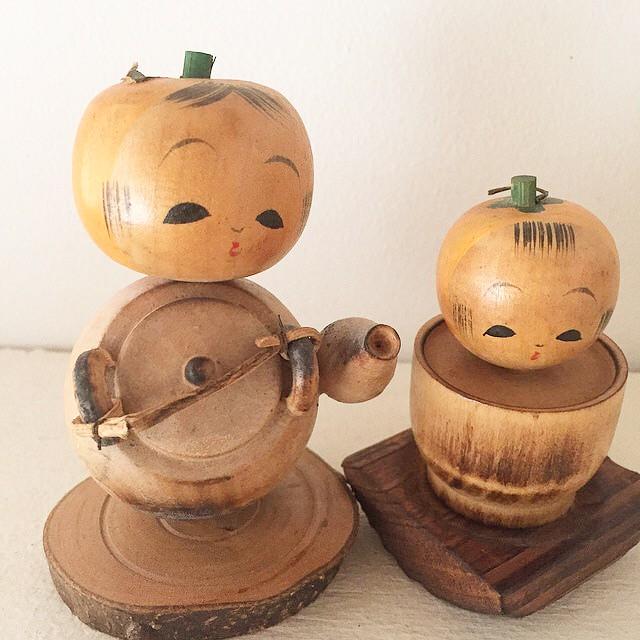柿でお茶のお土産こけしの変更のお知らせ