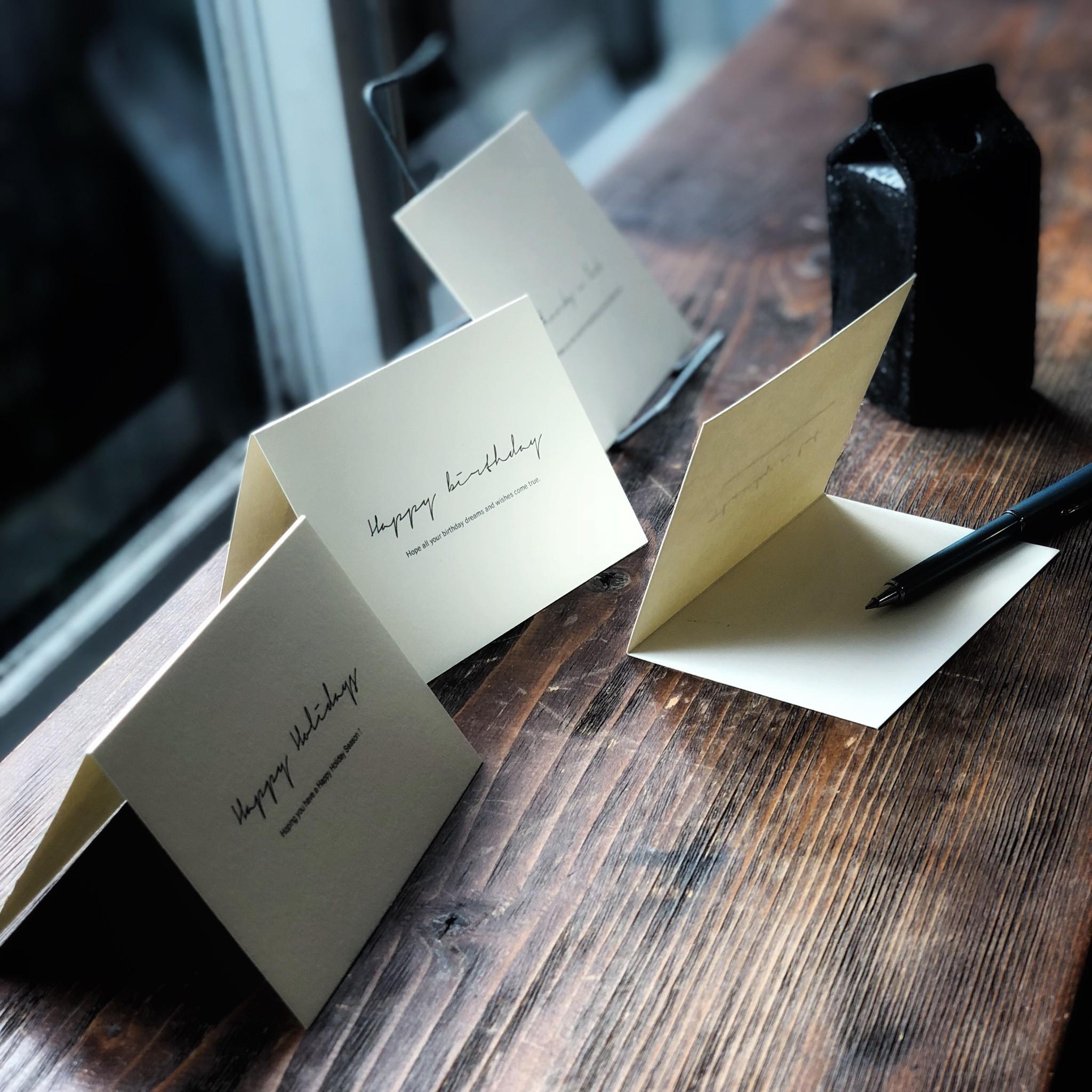 書かなくても伝わるメッセージカード