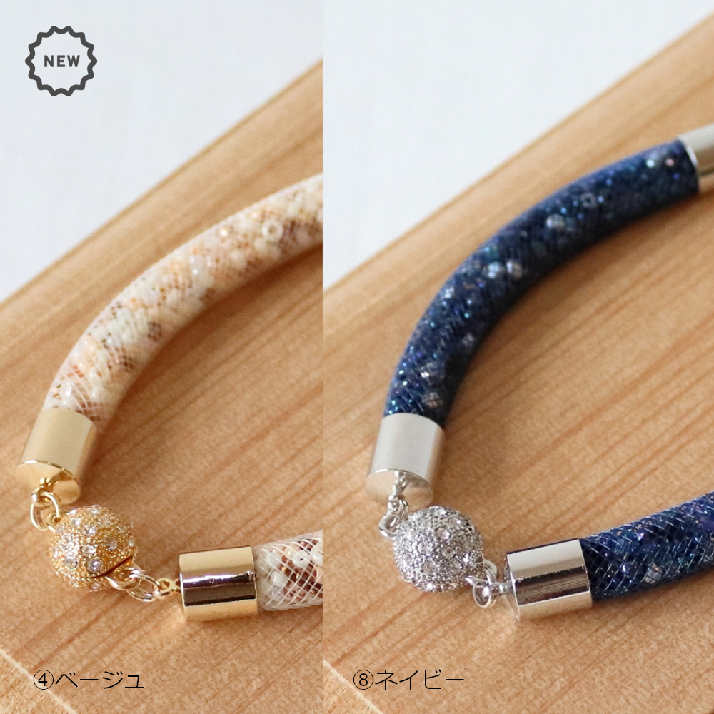 10/8 裏メニュー「ビーズたっぷり羽織紐」に追加分と新色2色が登場しました。
