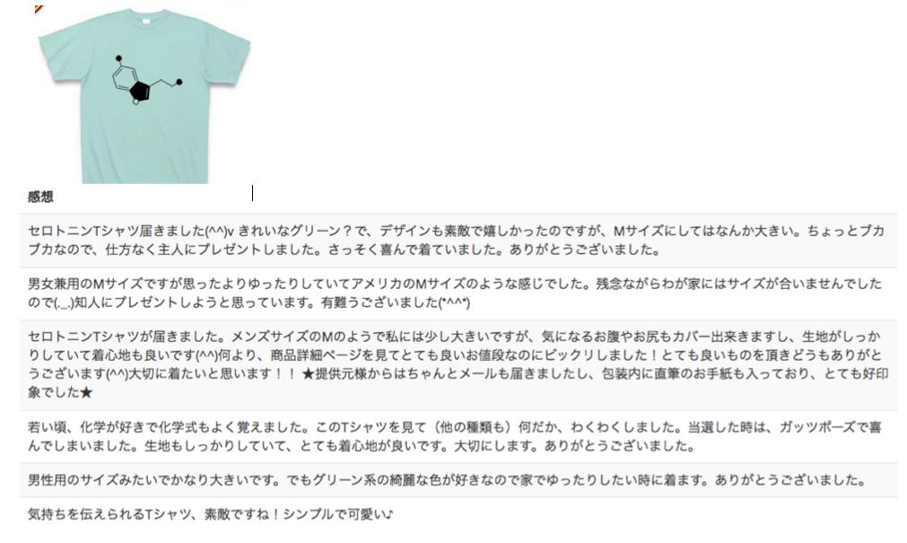 セロトニンTシャツの感想を見てよう