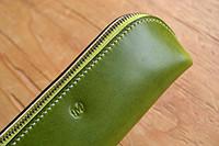 グリーンの配色が綺麗なペンケース