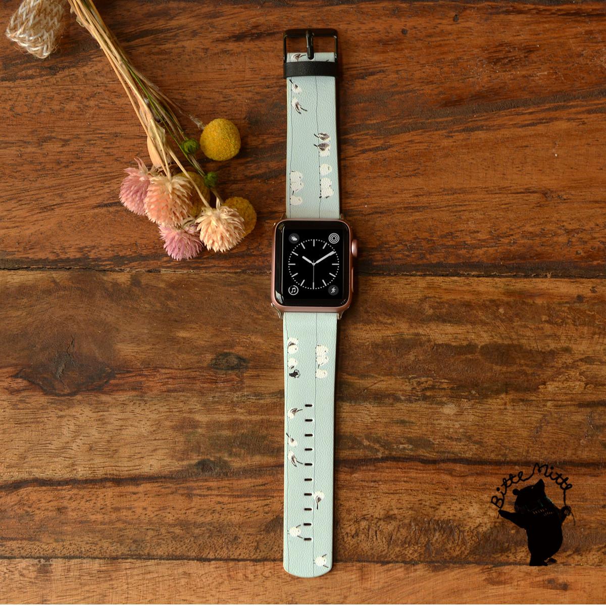 大人かわいい、おしゃれなイラストで彩られたApple Watch バンド!