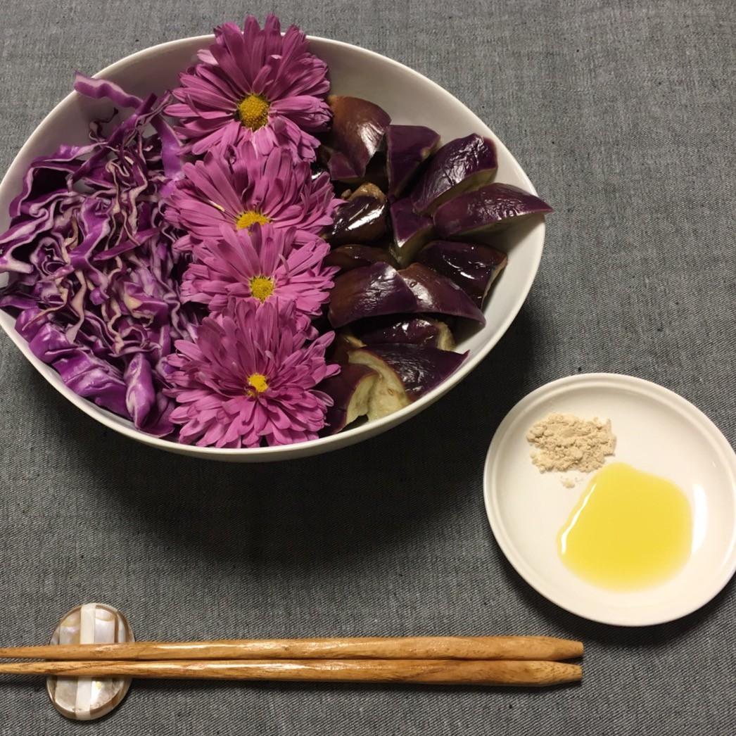 紫色のサラダ *スーパーフードマカ使って*