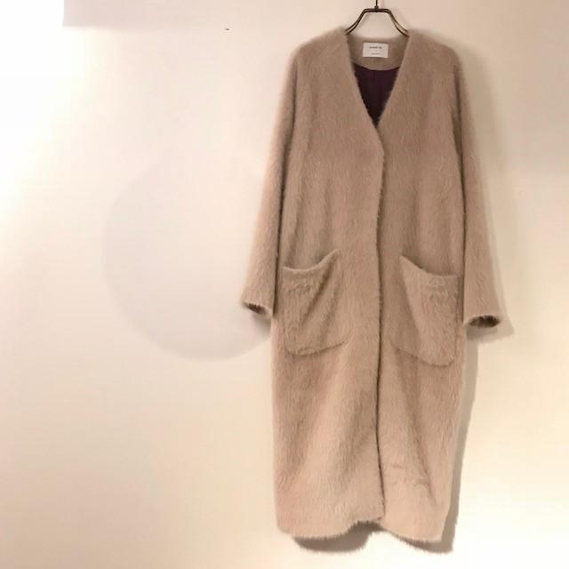 この冬お勧めの軽くて暖かいシャギーウールコート*