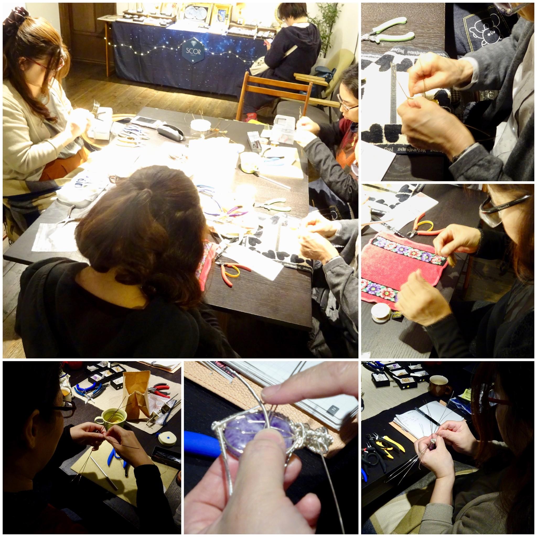 11/25(日)ワイヤーペンダントトップ作りWS & 販売会@大阪 ありがとうございました