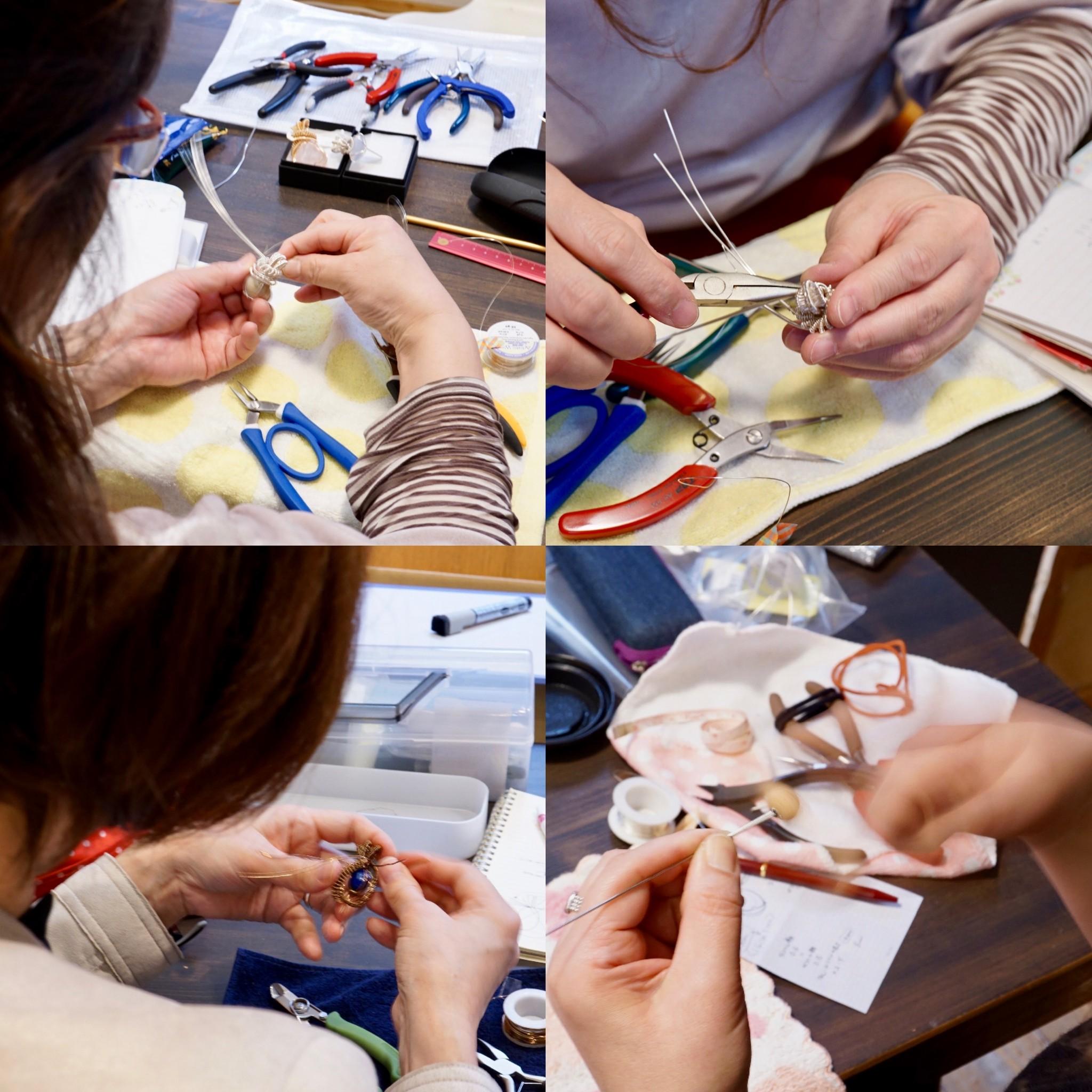 3/10(日)ワイヤーペンダントトップ作りワークショップ アドバンス@大阪 ありがとうございました