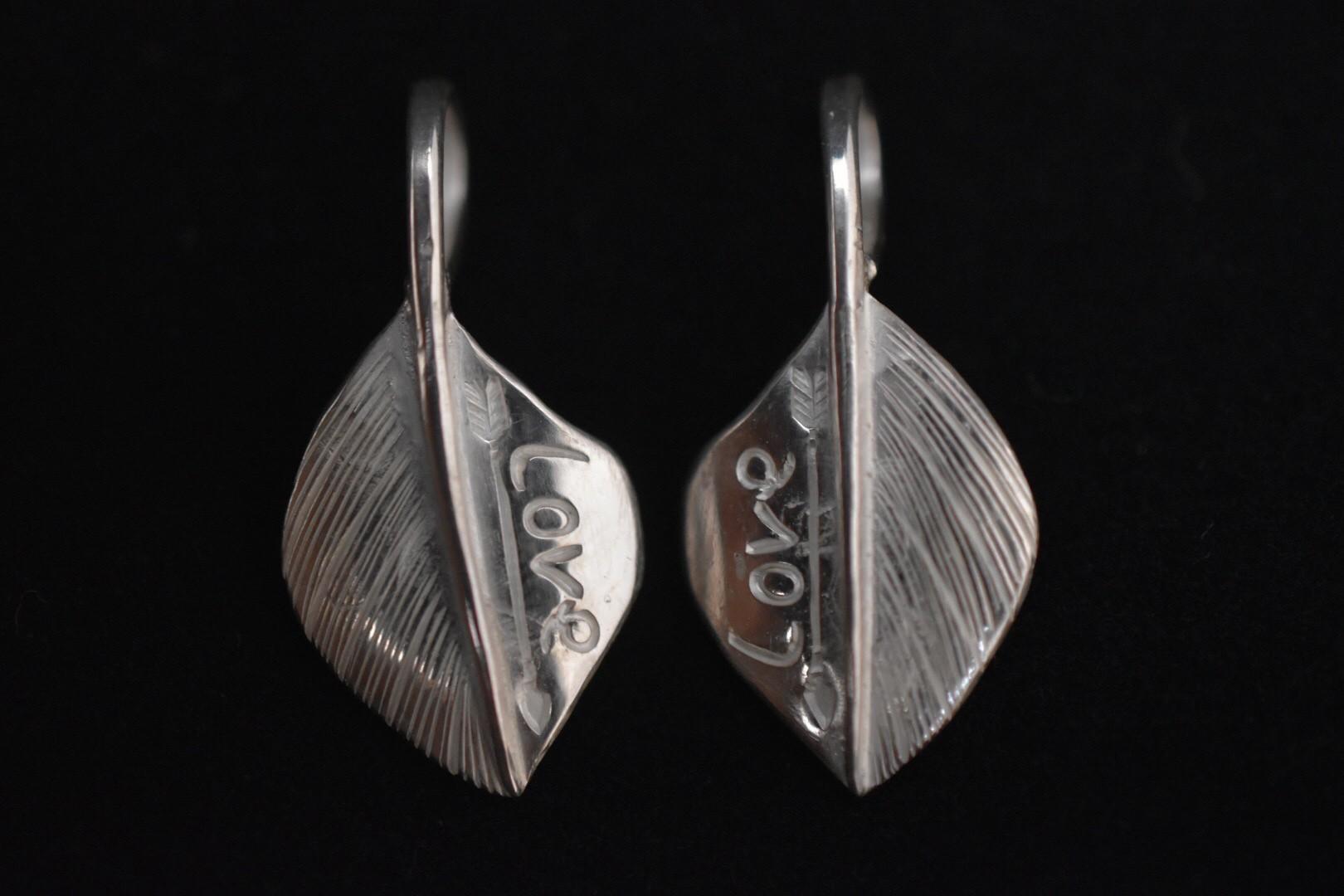 新作 front Love feather