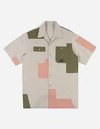 MAHARISHI-patchwork S/S shirt-