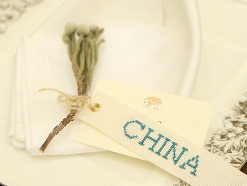 結婚式の席札に植物を!ナチュラルで、海外の結婚式の様な席札を作りました!
