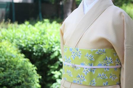 MAISON BLANCHE レモン 半巾帯