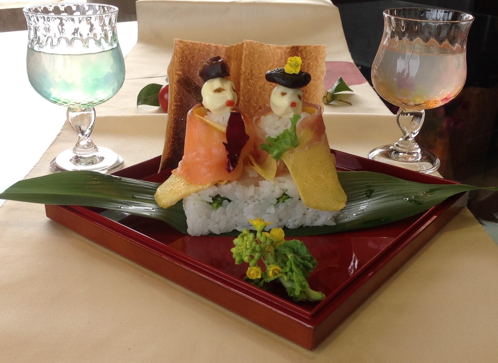 大人も楽しめるひな寿司♪