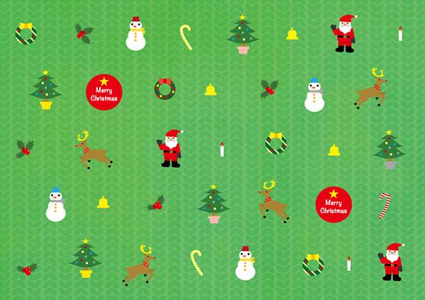 クリスマス・バージョンのA4デザインパターン