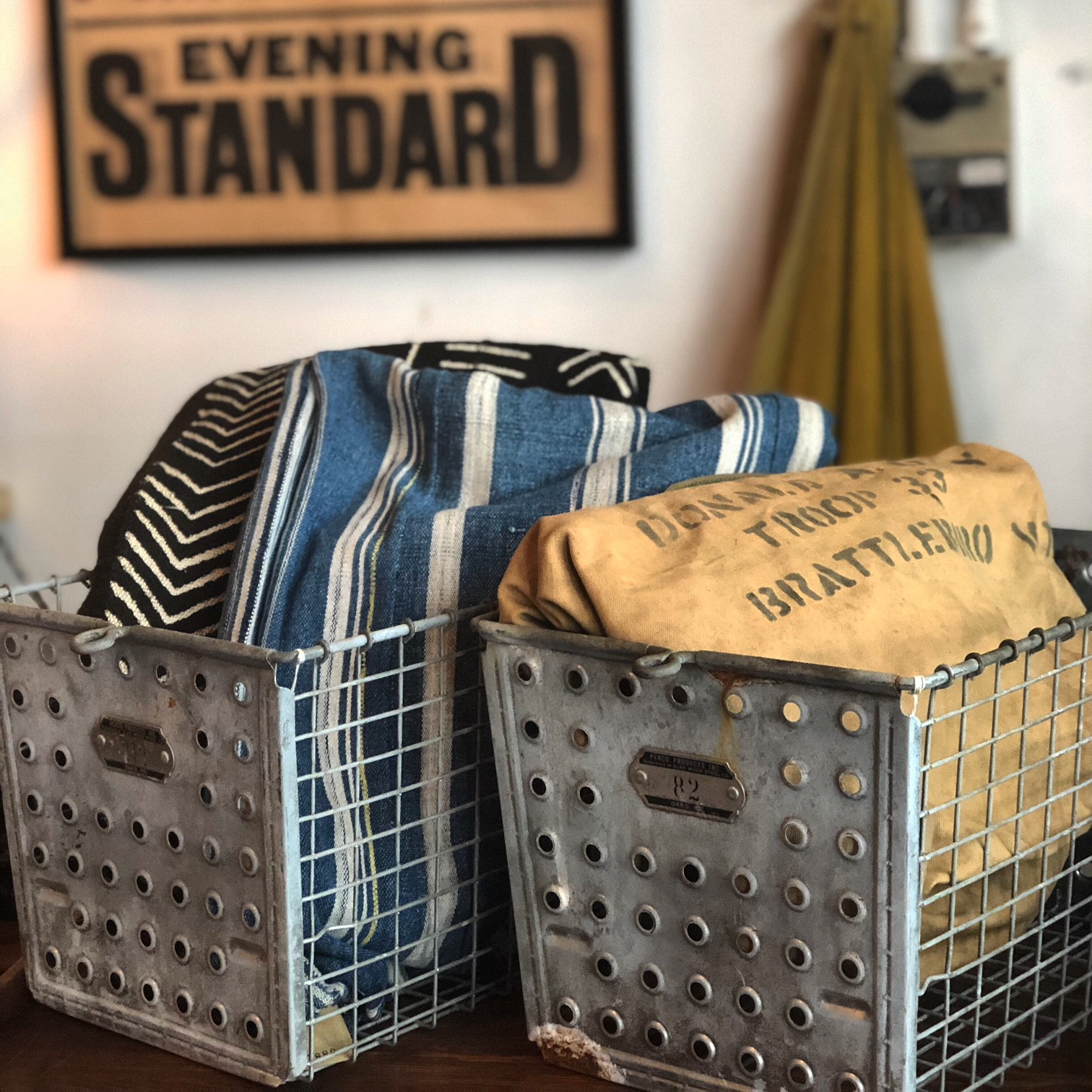 Vintage Steel Basket
