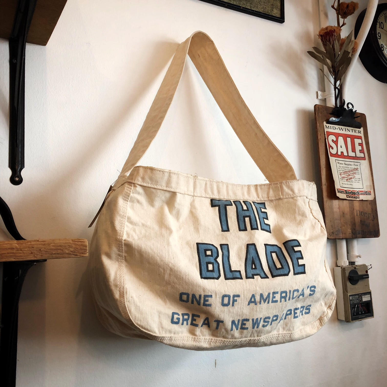 Vintage Newspaper bag