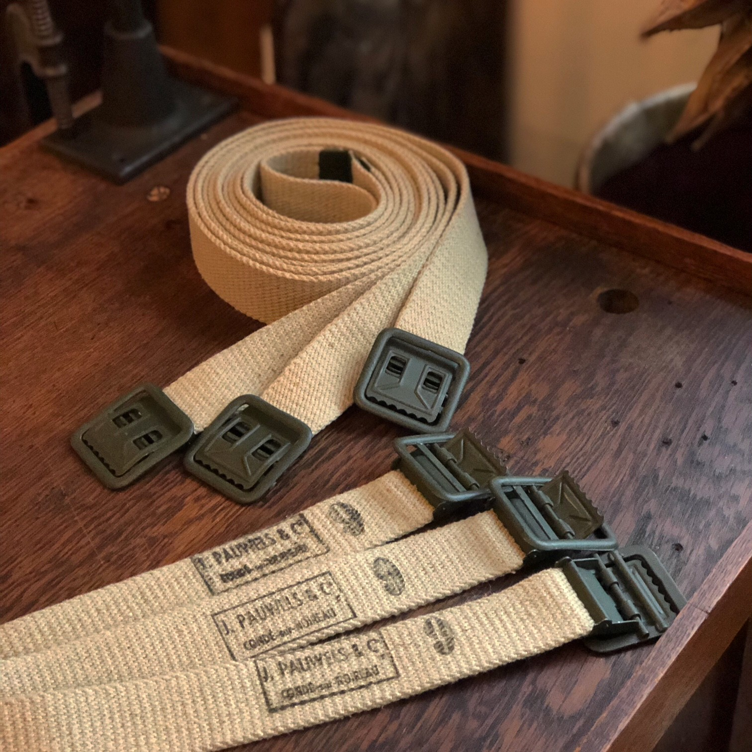 French Army Web Belt Dead Stock