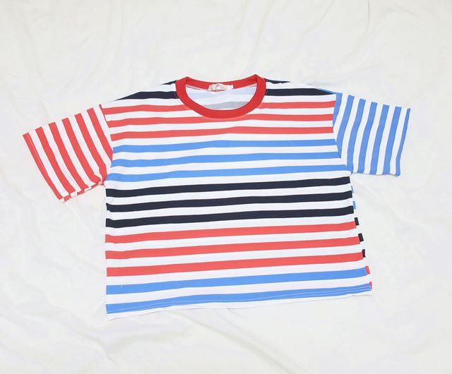 4カラーが夏に映える♪カラフルでポップなボーダーTシャツ