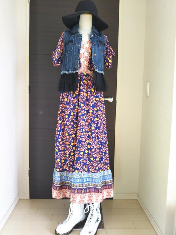 長いドレスが気になる…
