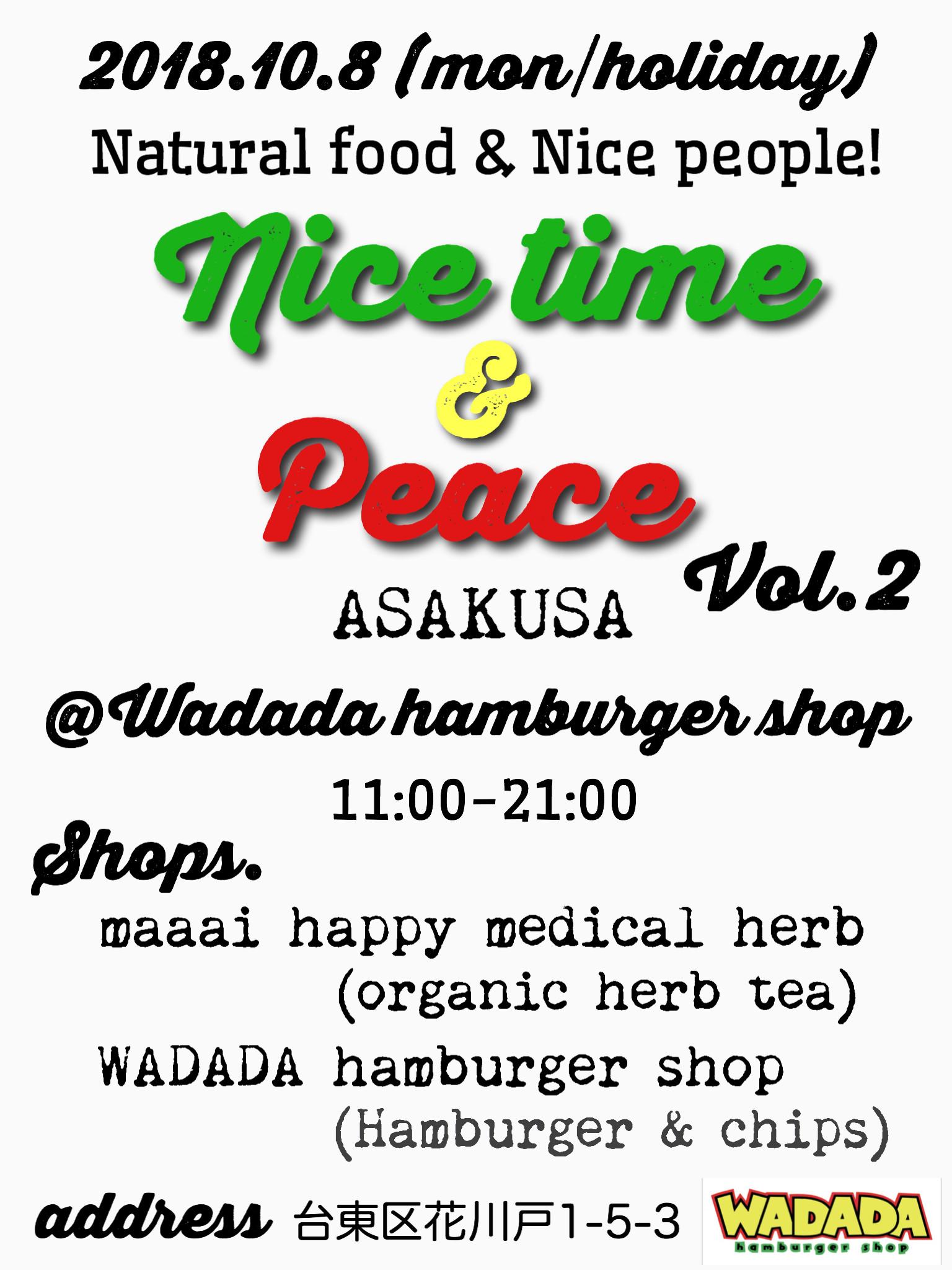 2018.10.8 'Nice time & Peace' vol.2 @ 浅草 WADADA
