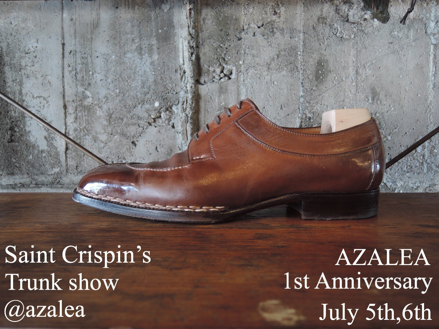 SAINT CRISPIN'S TRUNK SHOW July 5th and 6th