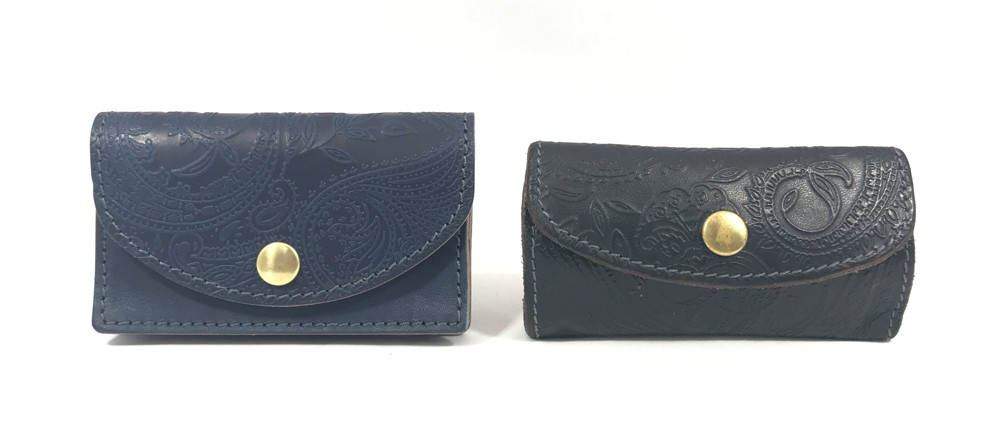 RE.ACT Leather Works Indigo Paisely