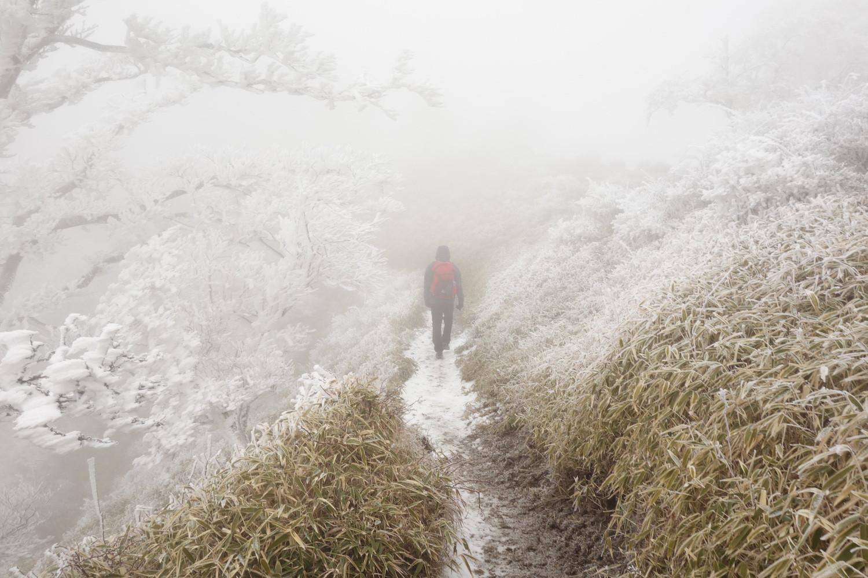 雪山と帽子と私。
