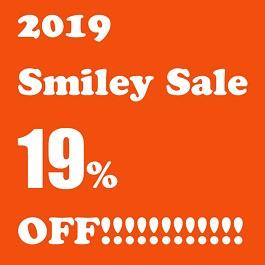 全品19%割引の2019 Smiley Sale開催中!送料無料!どうぞよろしくお願いいたします。