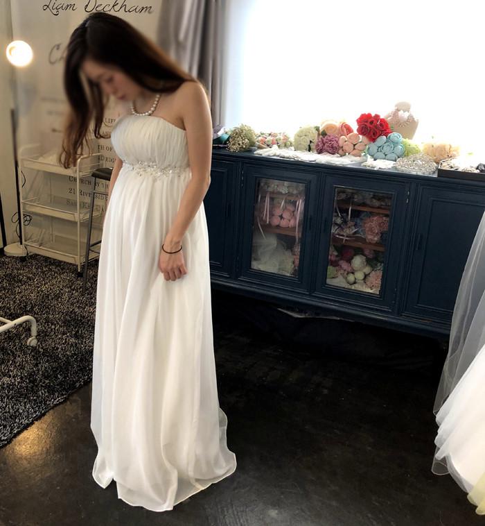 【ドレスご試着レポ】アールベリー オリジナル ドレス  小枝アクセが可愛い エンパイアドレス
