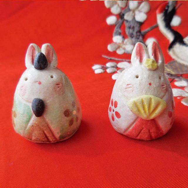 3月3日は桃の節句ひな祭り。今年はお花の器に乗った可愛らしいうさぎのお雛様で楽しいひな祭り♪