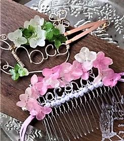 5月30日 ROOMIE掲載 本物のお花(紫陽花)マスクフックアクセサリーについて