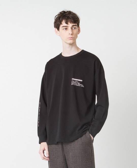 SLICK ドロップショルダープリントTシャツ(COMTEMPORARY)