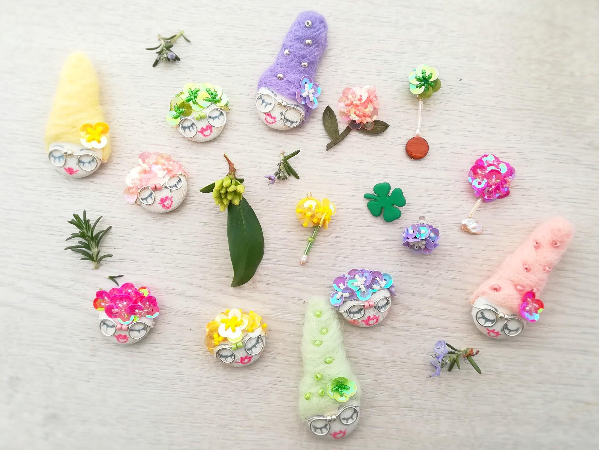【季節はお花を巡る旅】耳元で楽しいトークの花が咲く!花冠マダムの耳飾り