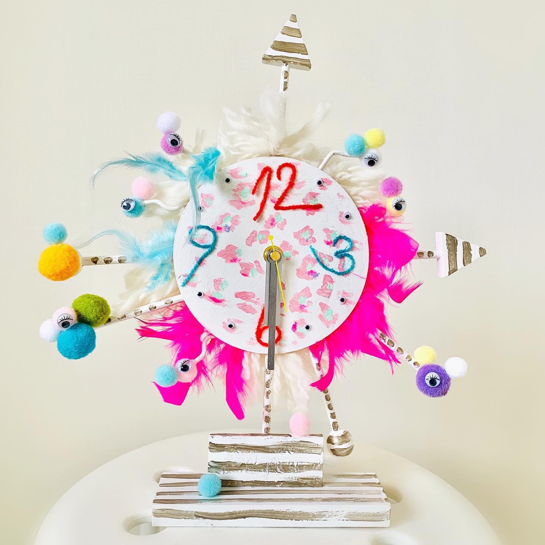 キッズアート → オリジナル時計づくり