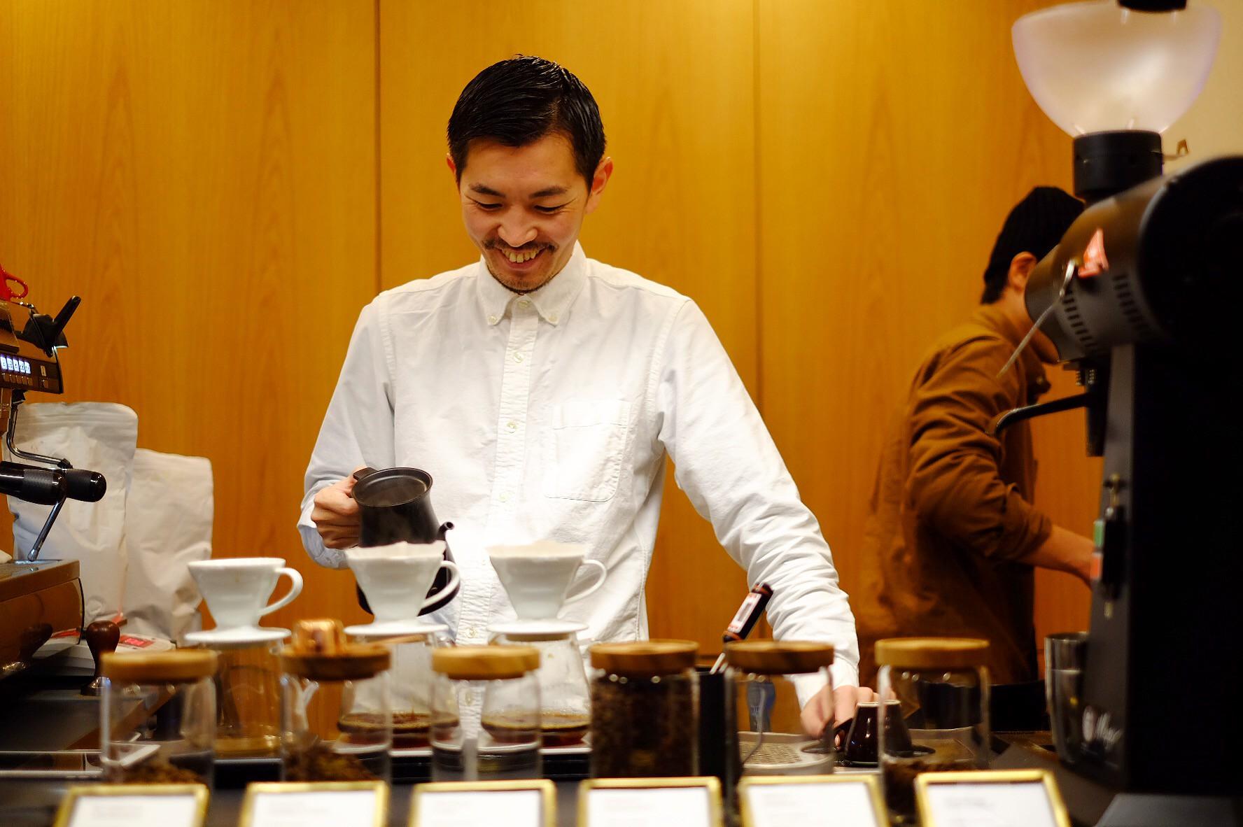 現地で買い付けをしているコーヒー豆