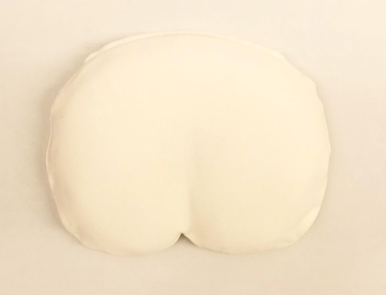 【新商品】「まんまる枕」さらさらニットカバー・ベージュとアイボリー