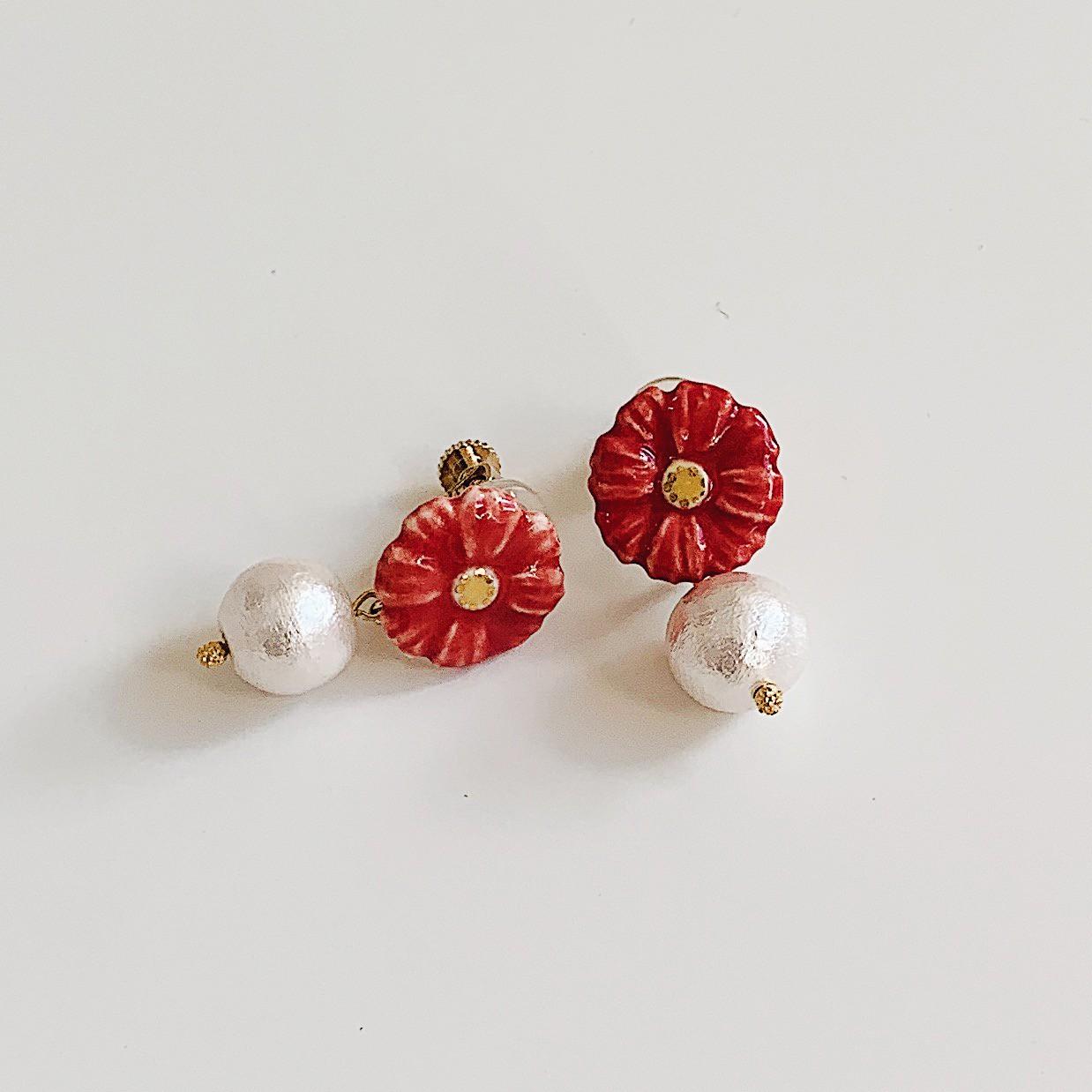 【新作入荷!!】お花の陶器アクセサリー(ひまわり・ガーベラ)