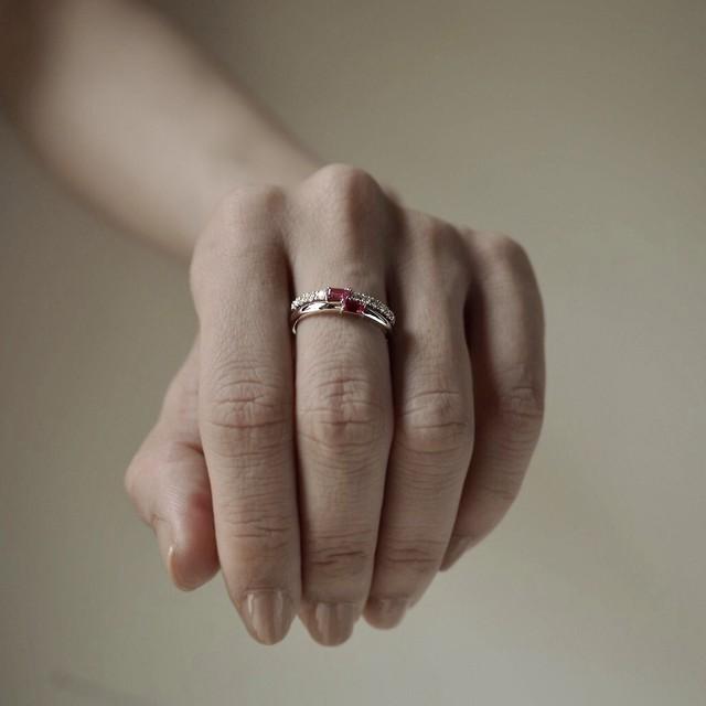 stacking half eternity ruby