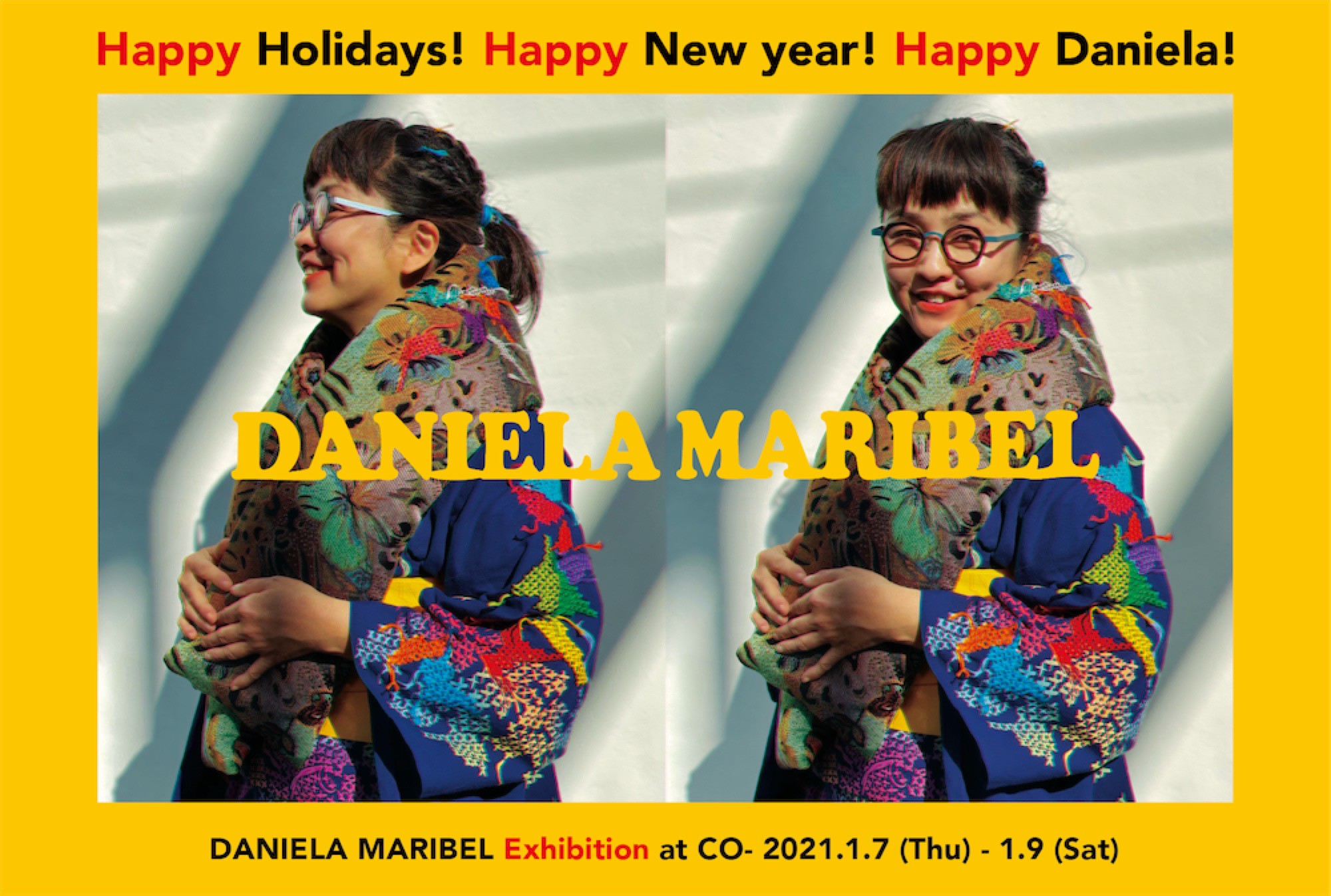 Happy Holidays! Happy New year! Happy Daniela!