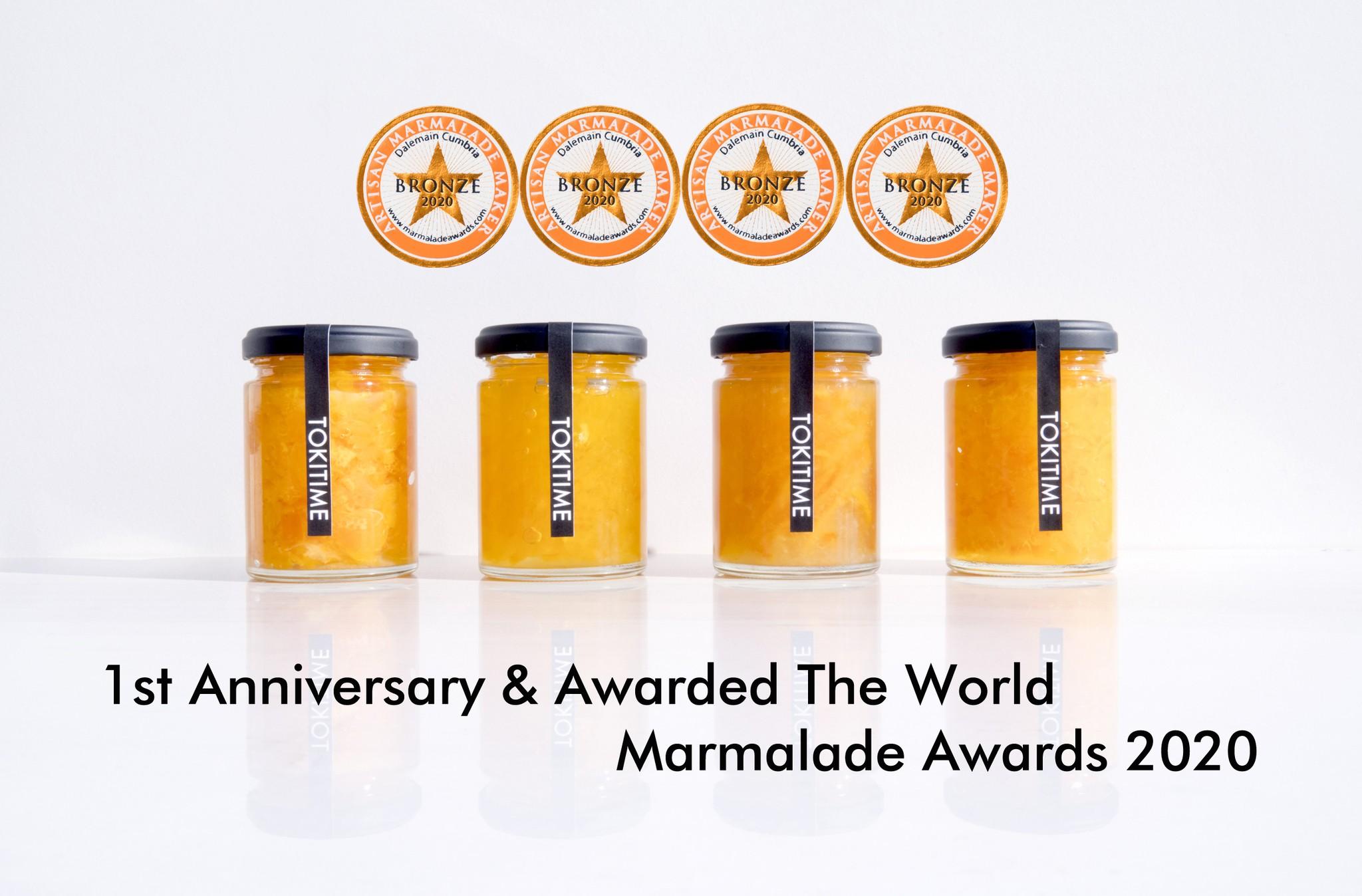 TOKITIME 1周年&世界マーマレードアワード 世界大会 2020にて受賞しました