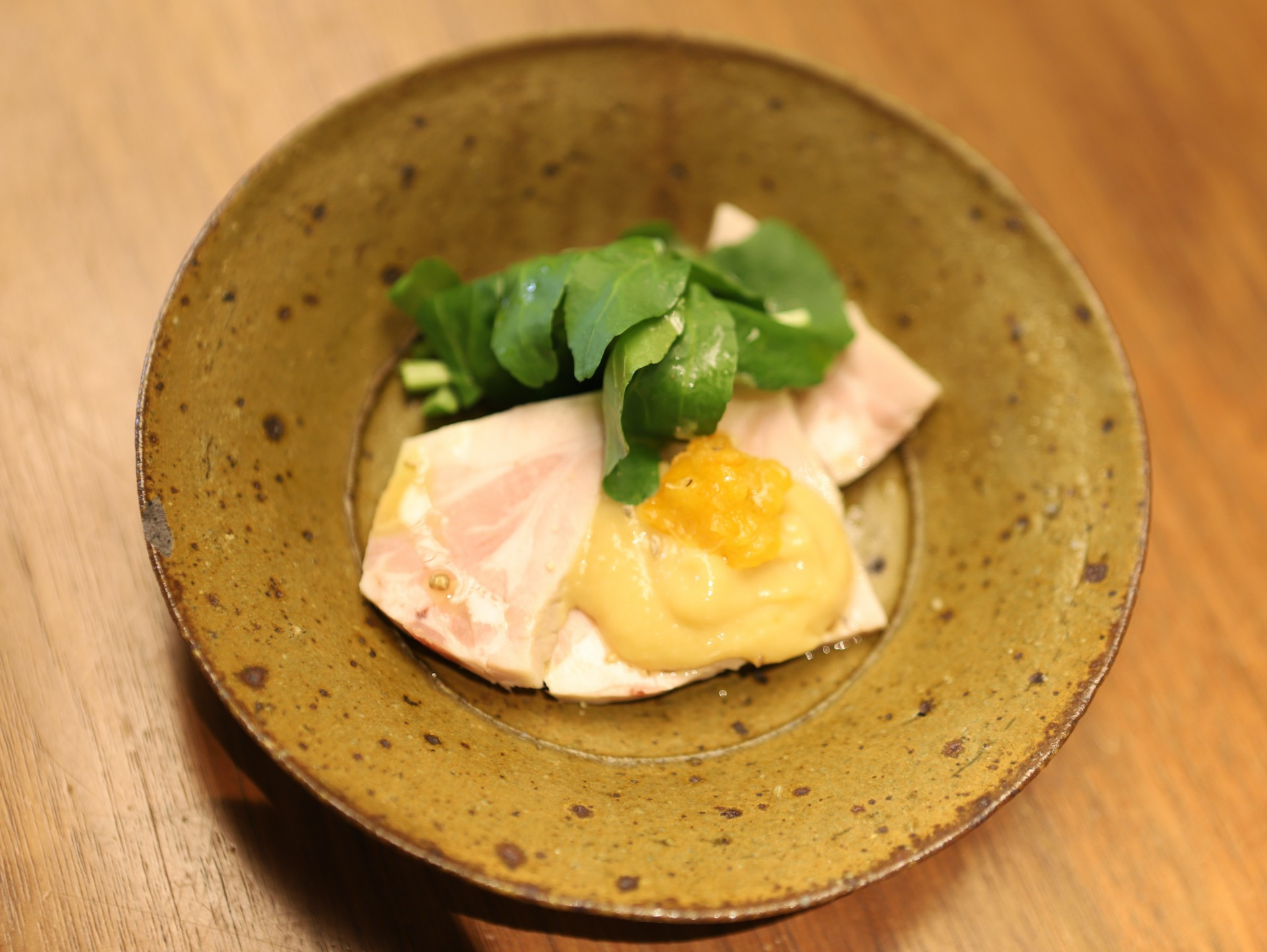 酒喜惣菜レシピ「蒸し豚とクレソンのぬた」