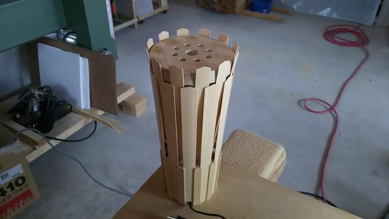 納品! 青森ヒバ 木製 ランプシェード。