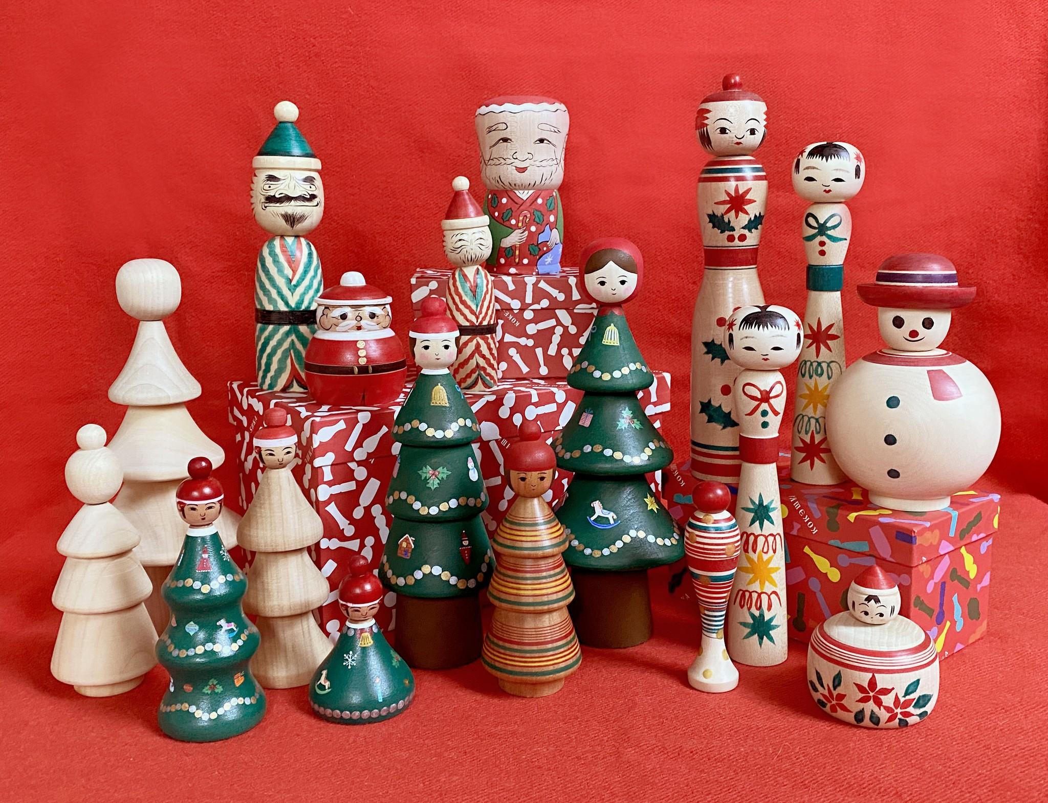 日本のこけしでクリスマス!!
