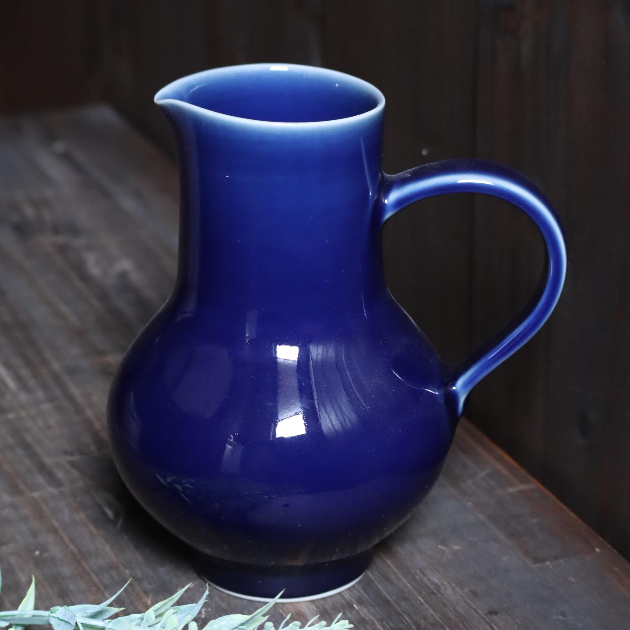 【新作入荷のお知らせ】瑠璃釉ピッチャー・白磁高台小鉢