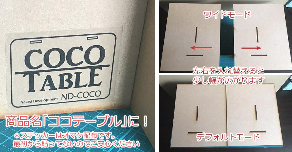 「ココテーブル」を皆さんにお渡しするまでの道のり(その3)商品名と、商品確定!