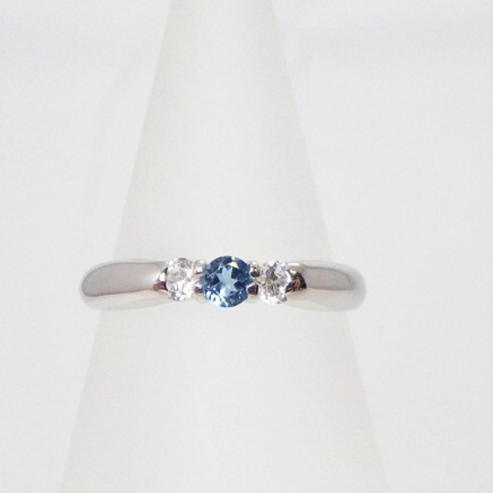 ❤︎ブルートパーズ×ダイヤモンド≪シルバー925≫天然石 リング 指輪❤︎