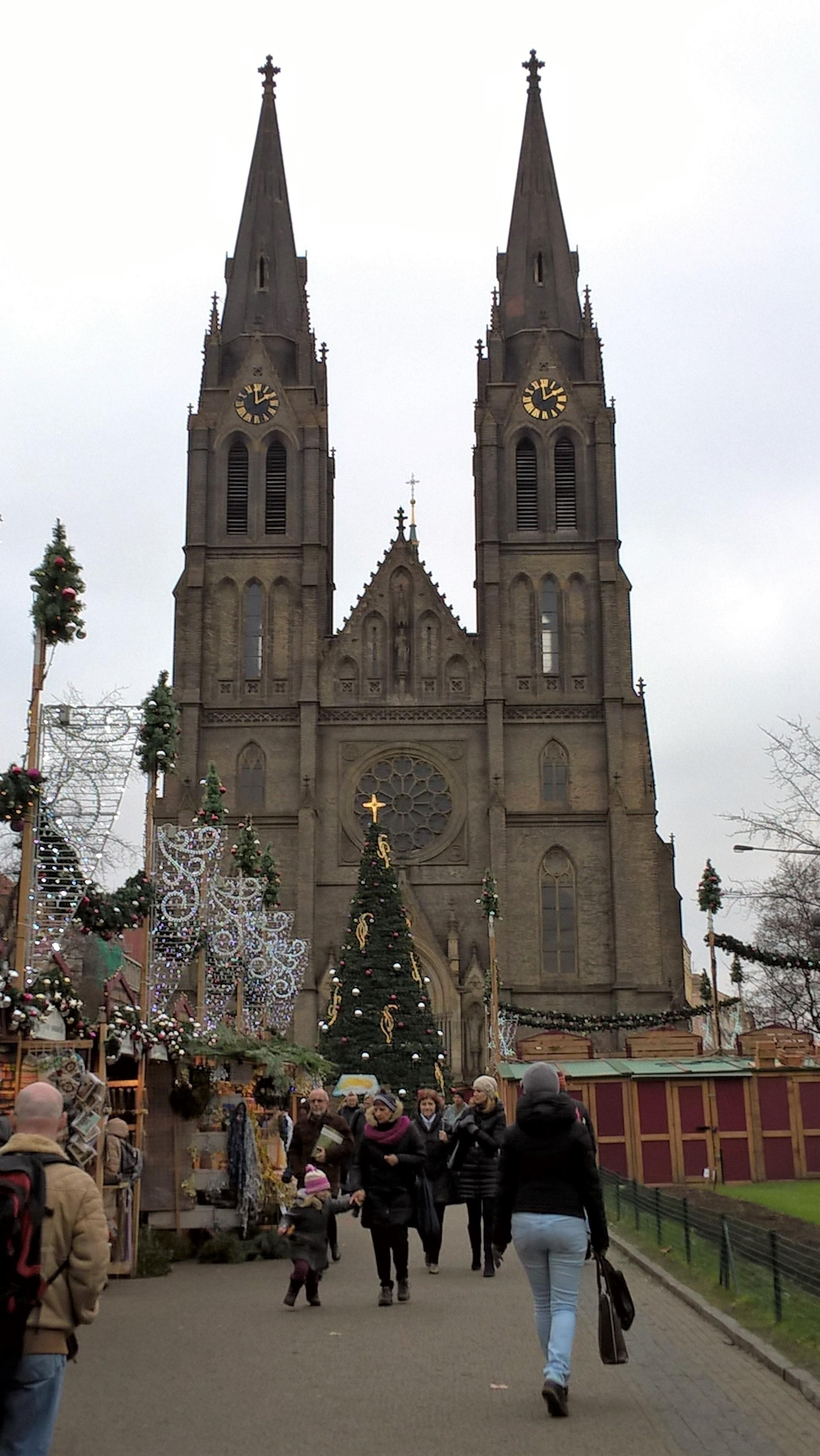 チェコ プラハ クリスマスマーケット Náměstí míru