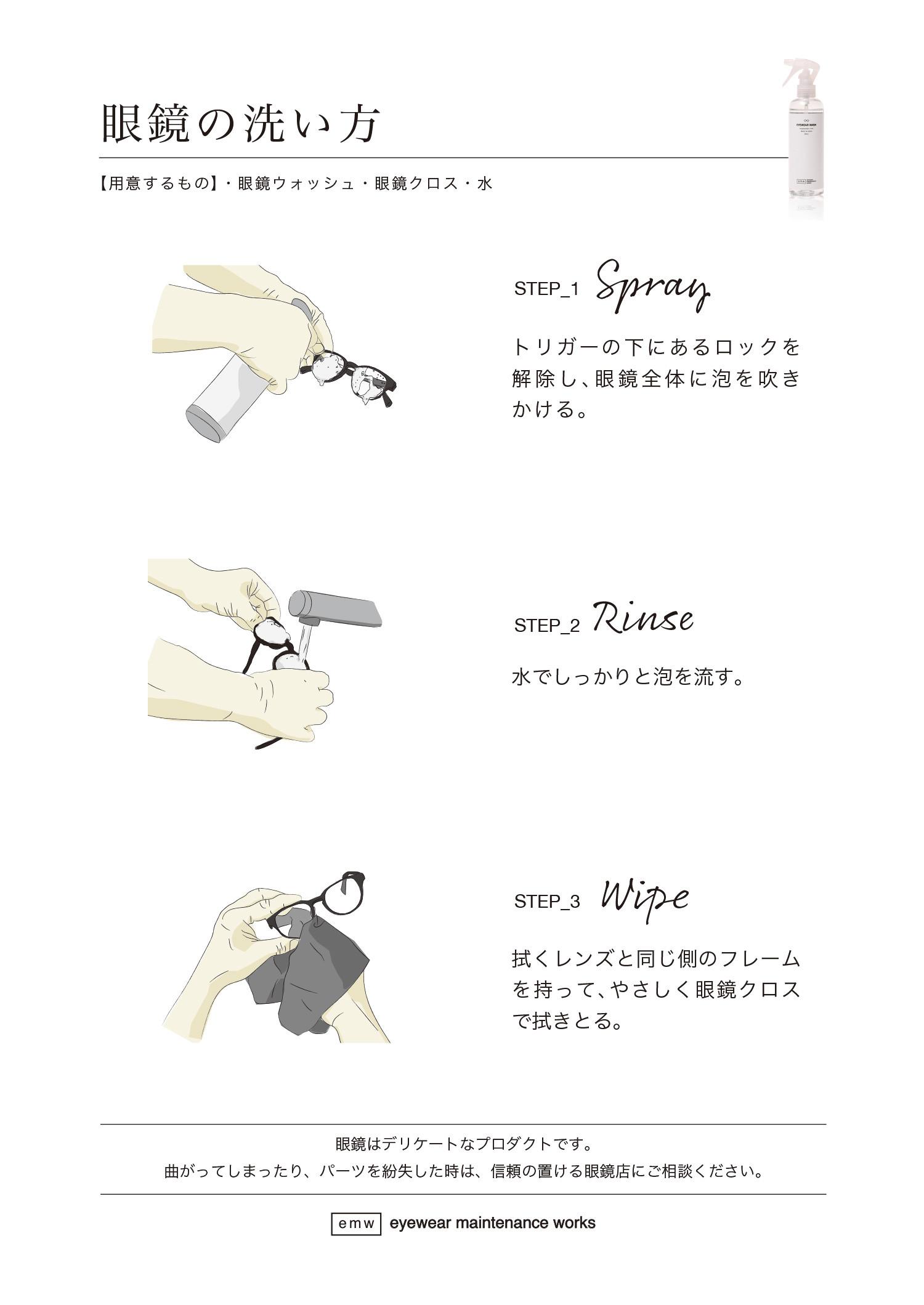 眼鏡の洗い方